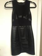 Armani Exchange Leather Dress